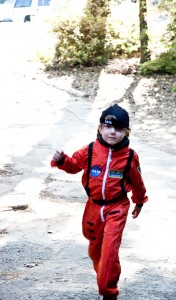 Galen in his new Nasa Jumpsuit